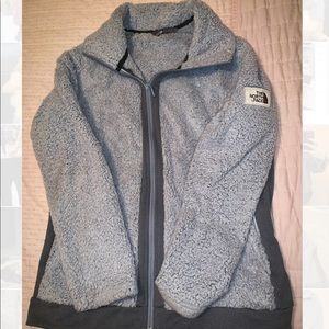 THE NORTH FACE Gray Teddy Jacket 100% Polyester
